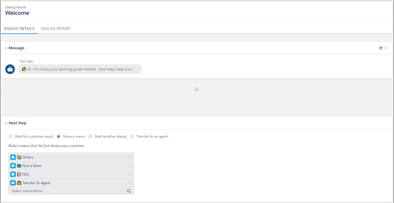 Salesforce Einstein Chatbot