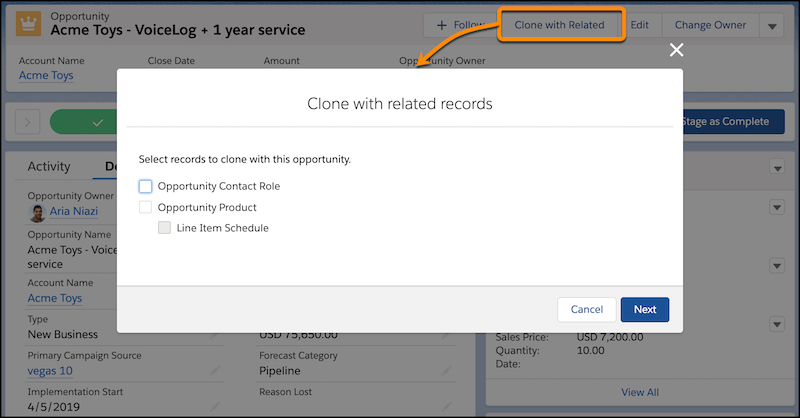 Cloning Objects in Salesforce