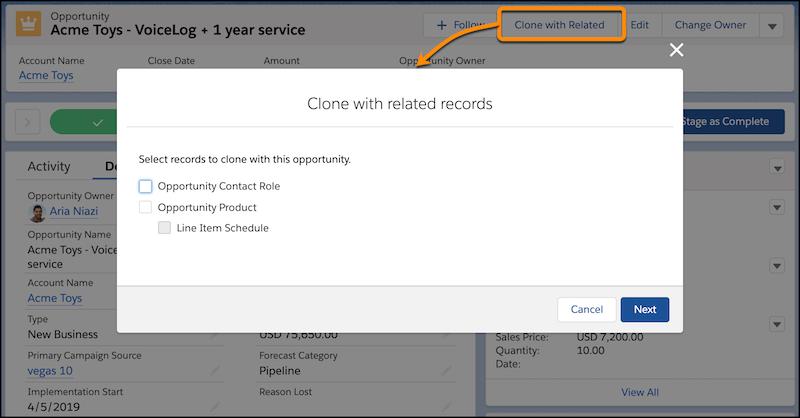 Clone Opportunities in Saleforce