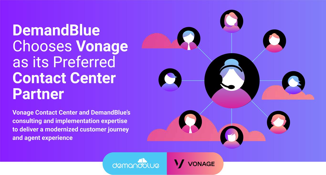 DemandBlue Chooses Vonage as its Preferred Contact Center Partner