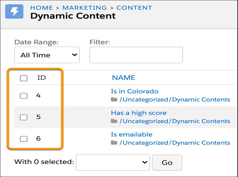 Pardot dynamic content