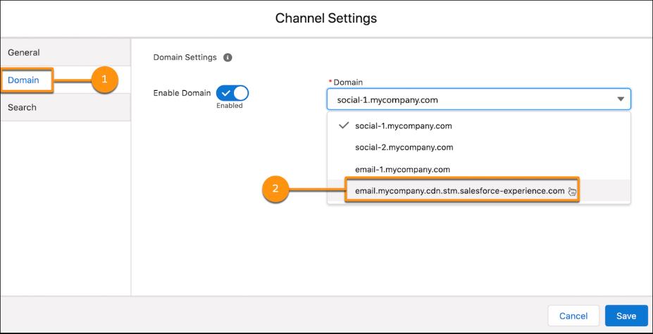 pardot channel setting